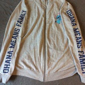 Disney stitch zip up hoodie